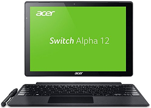 Preisvergleich Produktbild Acer Switch Alpha 12 SA5-271-53QS 30,5 cm (12 Zoll QHD Touch IPS) Convertible Notebook (Intel Core i5-6200U, 8GB RAM, 256GB SSD, Windows 10) silber
