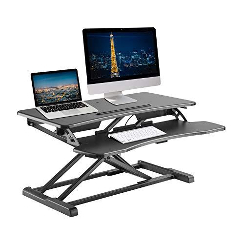 TechOrbits Steh-X Light Stehpult Converter Höhenverstellbarer aufstehen schreibtisch Riser Sit in den Stand Desktop Arbeitsplatz Oberfläche 32