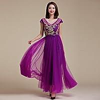 MEI&S Vintage mujer elegante vestido de Prom Larga Noche Maxi vestido de fiesta