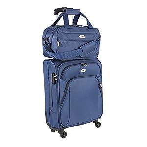 CABIN GO Max 5550 Trolley con equipaje de mano Tamaño de cabina pequeña – Carro suave con ruedas giratorias y equipaje de segunda mano Adecuado para vuelos de Ryanair Alitalia EasyJet 55x40x20 cm
