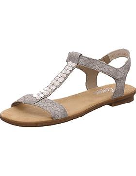 Rieker Damen 65863 Offene Sandalen mit Keilabsatz
