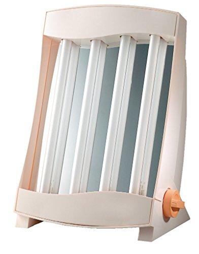 Efbe-Schott Solarium facial con 4 lámparas, 75 W, 2 gafas de protección incluidas, Blanco, SC GB 834 N