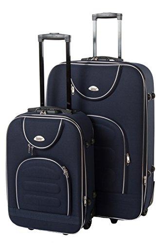 Edelnice Koffer Set de bagage Noir bleu foncé M+L