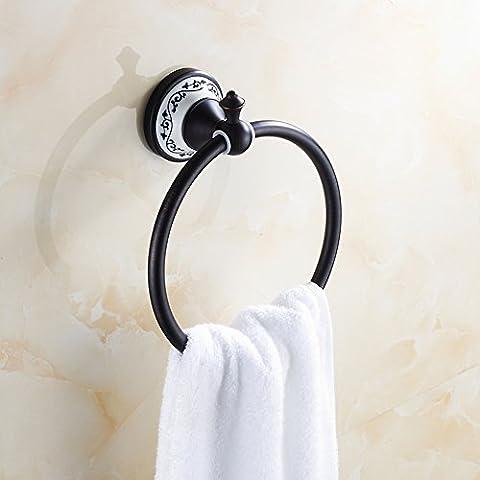 Europäische all-Kupfer Handtuchring/Antique Handtuch hängen Ring/Blaue und weiße Handtuch Ring/Runde Handtuchhalter