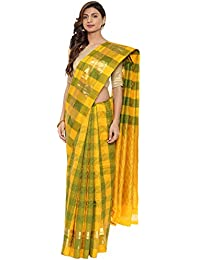 CLASSICATE From the house of The Chennai Silks Traditional Silk Saree (CCMYSS10380 - Yellow & Green)