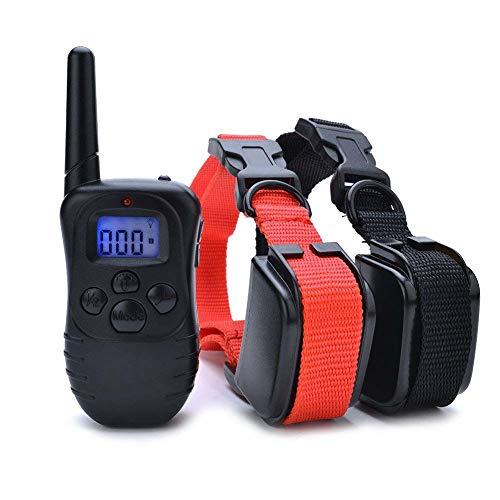 Wodondog Collar de Adiestramiento para Perros, Resistente al Agua con vibración y Sonido, Rango...