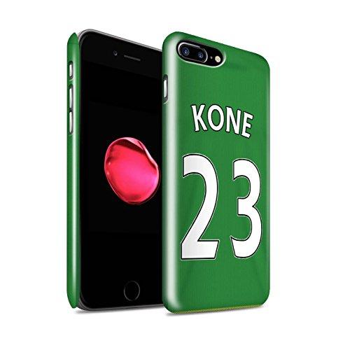 Offiziell Sunderland AFC Hülle / Glanz Snap-On Case für Apple iPhone 7 Plus / Kirchhoff Muster / SAFC Trikot Away 15/16 Kollektion Kone