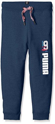 Puma Pantaloni da bambino Style Athl Sweat Pants Closed, Bambini, Hose Style Athl Sweat Pants Closed, B, Teal ala blu, 128