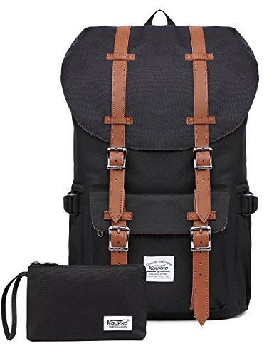 KAUKKO Sac à dos stylé Coole schulrucksäcke Sac à dos pour ordinateur portable Noir