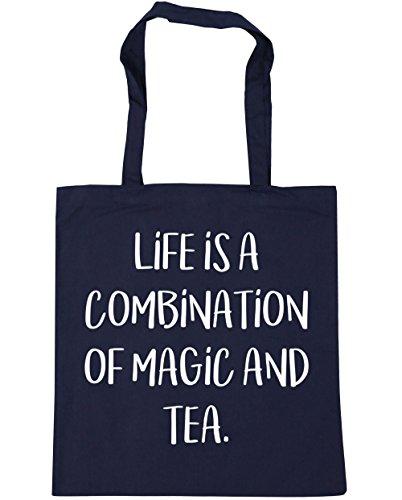 hippowarehouse-life-is-a-combination-of-magic-and-tea-tote-shopping-gym-beach-bag-42cm-x38cm-10-litr