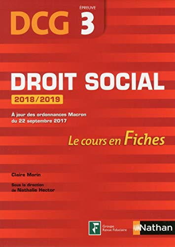 DCG 3 - Droit social - 2018/2019 (Fiches de cours)