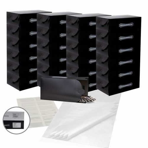 25x-black-ladies-shoe-boxes-12-clear-adhesive-pockets-25-sheets-of-acid-free-tissue-paper-superior-q