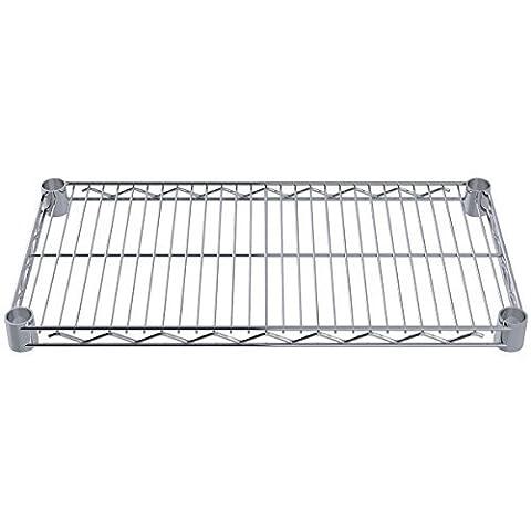 Akro-Mils AWS1224SHELF 12-Inch X 24-Inch NSF Approved Industrial Grade Chrome Wire Shelf, 4-Pack by (24 Wire Shelf)