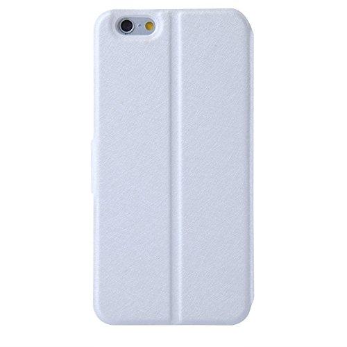 Phone case & Hülle Für IPhone 6 / 6S, natürliche Silk Textur & Stereoskopische Diamant verkrustete Rose Horizontale Flip Leder Tasche mit Halter & Card Slot ( Color : Blue ) White