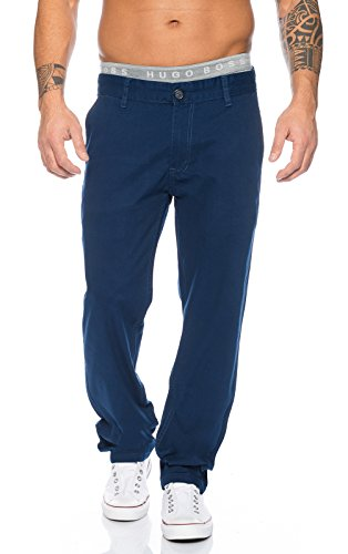 Rock Creek Herren Designer Chino Stoff Hose Chinohose Regular Fit Herrenhose W29-W40 RC-2083 [RC-2083 - Navy - W34 L30]