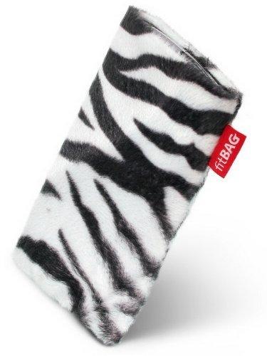 fitBAG Bonga Zebra Handytasche Tasche aus Fellimitat mit Microfaserinnenfutter für Samsung SGH-X500