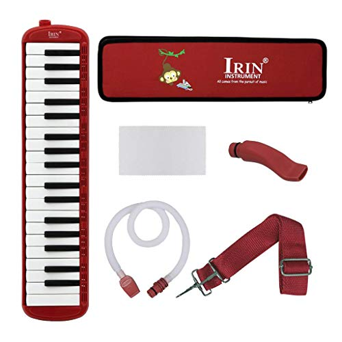 gazechimp 37 Tasten Mundharmonika Tastatur Mit Etui, Melodica Bestes Musikalisches Geschenk Für Anfänger Studenten Erwachsene Kinder Kinder - rot