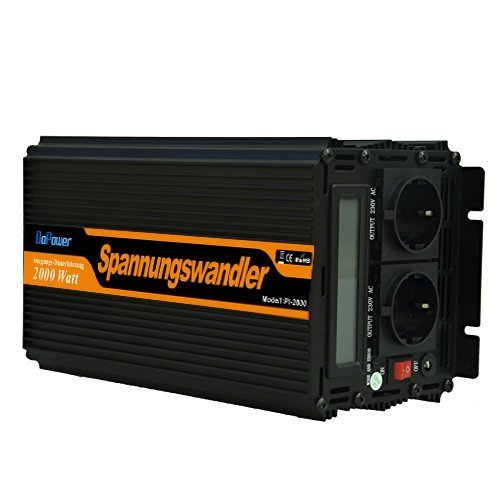 convertisseur onde sinus modifiée 12v 220v onduleur 2000 4000w LCD transformateur de tension