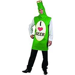 Disfraz adulto botella de cerveza