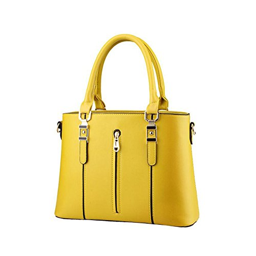 Beatayang Damen Elegant Schultertasche Handtasche Gold