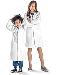 Dr. James Blouse Blanche de Laboratoire Chimie Enfant Unisexe Qualité Supérieure
