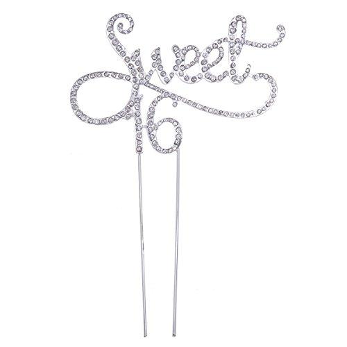 eet 16 Cake Topper 16. Geburtstag Jubiläum Kristall Strass Dekorative Cake Topper für Sweet 16 Party-Themen Dekoration Lieferungen ()