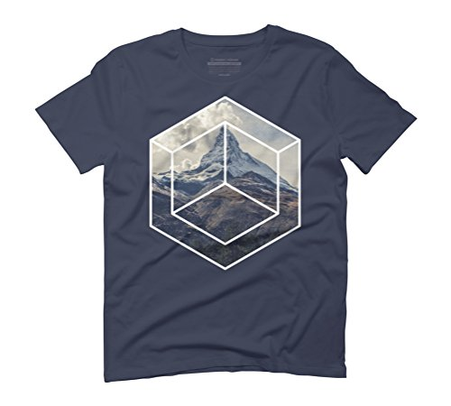Single mountain Men's Graphic T-Shirt - Design By Humans Navy