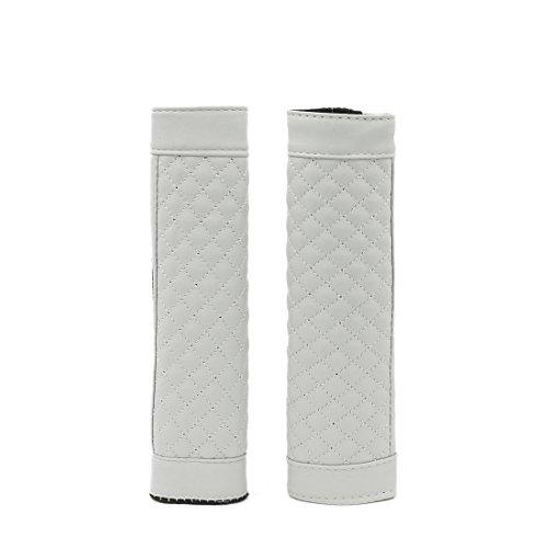 Paar Hook Schleife Verschluss-Auto-Sicherheits-Sicherheitsgurt-Abdeckungs-Schutz-Auflage Grau