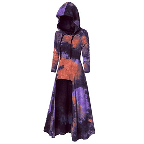 Wirklich Kostüm Warme - Mittelalter Umhang mit Kapuze Damen Karneval Kostüm Vintage Partykleid Retro Kleid Renaissance Halloween Party Cosplay Gothic Mantel Poncho Kap Hoodies Strickpulli Longstrickjacke Trenchcoat Outwear