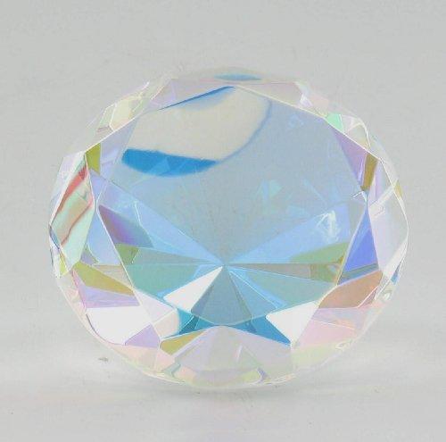 i Farbe Prism Glas Diamant Geformt Papier Gewicht ()