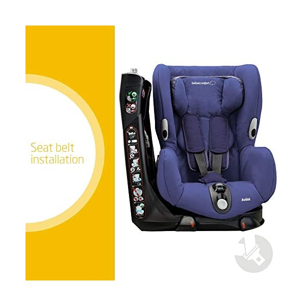 Maxi-Cosi Axiss Swiveling Toddler Car Seat, Extra Secure Fit, Reclining, 9 Months-4 Years, 9-18 kg, River Blue Maxi-Cosi Toddler car seat, suitable from 9 months to 4 years (9-18 kg) Swivels 90 degrees allows for front-on access to get your toddler in and out of the car more easily Maxi-Cosi Axiss car seat has eight comfortable recline positions 2