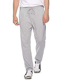 Hawiton Pantalones de Pijama Hombre Invierno Largo de 100% Algodón Primavera