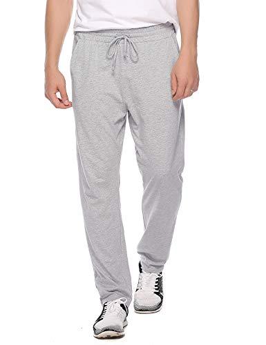 Hawiton Herren Schlafanzughose Pyjamahose Lang Sport Jogging Hose Aus Baumwolle Grau XXL -