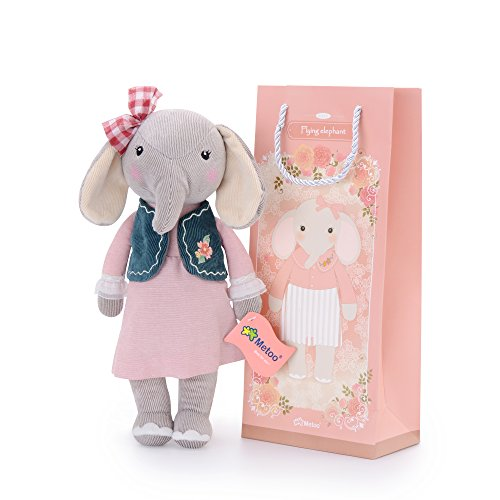 First easter gifts amazon metoo baby stuffed elephant doll wear navy vest pink dress kids plush toys birthday gifts negle Gallery