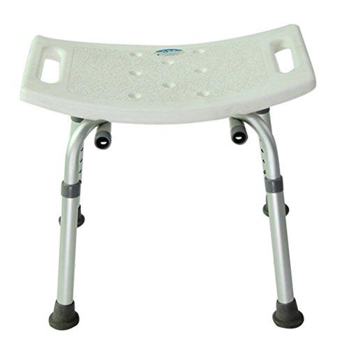 Tinksky Fauteuil de bain réglable douche chaise 6-hauteur médical baignoire tabouret banquette (blanc)