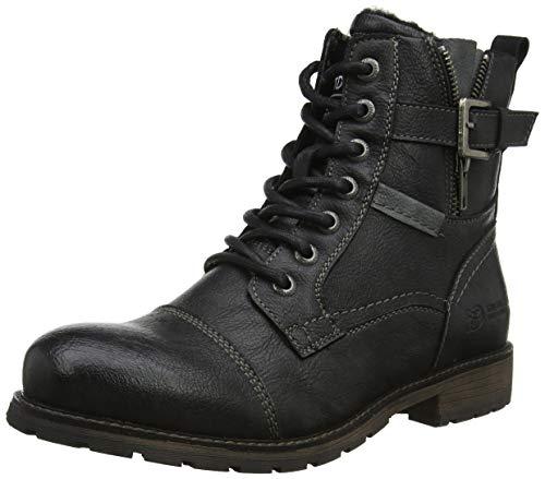 TOM TAILOR Herren 7985907 Klassische Stiefel, Schwarz (Black 00001), 43 EU