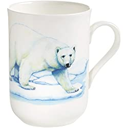 Maxwell & Williams pba0004 Animals of the world – Taza Eisbär, caja de regalo, porcelana, blanco/multicolor