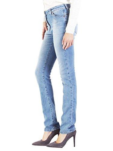 Carrera Jeans - Jeans 753C0970A per donna, modello a sigaretta, look denim, tessuto elasticizzato, vestibilità normale, vita alta 527 - Lavaggio blu chiaro (super stone wash)