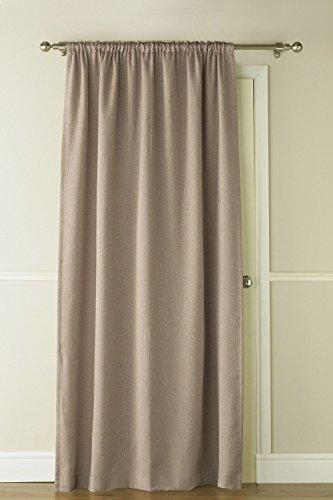 129,5 x 213,4 cm Latte Marron Luxe Self-lined occultant Rideau de porte thermique
