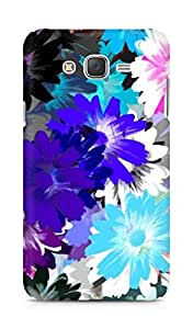 Amez designer printed 3d premium high quality back case cover for Samsung Galaxy J7 (Oil Colorful Drawing Flower)