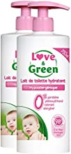 Amor y verde Leche Limpiadora 750ml hipoalergénico - Conjunto de 2
