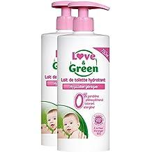 Love & Green - Lait de Toilette Hypoallergénique 750 ml - Lot de 2