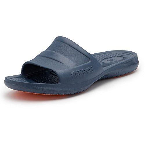 Ciabatte da doccia Antiscivolo Pantofole KENROLL Scarpe da Uomo Sandali da bagno (8-8.5 UK/42-43 EU, Blu marino) Blu Marino