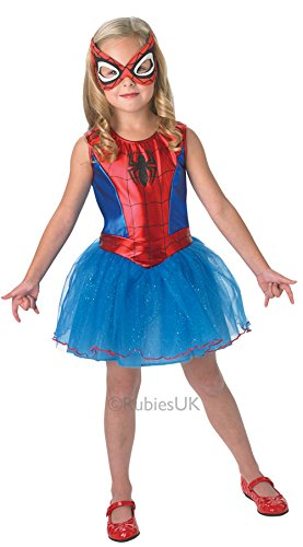 Girl Kostüm Spiderman - Rubie's 3888884 - Spidergirl Child Kostüm,  Größe:  M