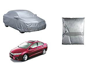 GP Automotive Parachute Material Silver Car Body Cover For Honda City Idtec/Ivtec (2014-2016)