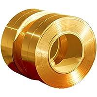 Rollo de cinta conductora de cobre de 1 metro de largo, de latón macizo, de Rzdeal 0.05mm*100mm