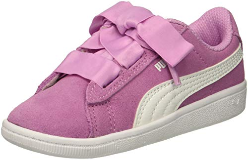 PUMA Baby Vikky Ribbon AC Kids Sneaker  Orchid White  10 M US Toddler