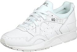 Zapatillas Asics. Modelo Gel Lyte V. Color blanco. Amortiguacion de Gel. Se ajustan perfectamente al pie. V reflectante en el talón. Combinadas en piel y malla.