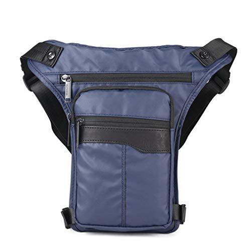 Xieben Oxford Bolsa De Pierna Caída para Hombres Mujeres Motocicleta Multiusos Crossbody Hip Bum Bolsa Cinturón Paquete De Viaje Al Aire Libre Táctico Camping Pesca Senderismo Azul