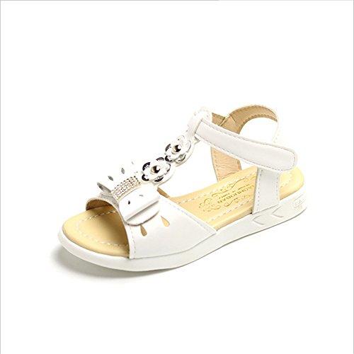 ZGSX 2017 nuove moda fiori ragazze sandali sandali primavera e l'estate pattini della principessa dei bambini Bianca
